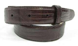 ROBERT LEE MORRIS Dark Brown Lizard Skin Belt Sz M