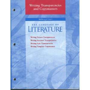 The Language of Literature (Writing process transparencies; writing