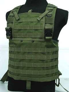SWAT Airsoft Molle Chest Rig Platform Carrier Vest OD