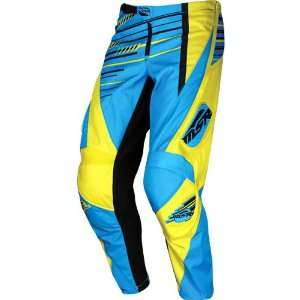 MSR Racing Axxis Mens Dirt Bike Motorcycle Pants   Cyan/Yellow / Size