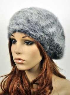 Warm Rabbit Fur Sexy Lady Womens Witer Beret Hat Beanie Ski Cap 2