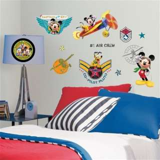 31 New MICKEY MOUSE PILOT CLUBHOUSE WALL DECALS Disney Stickers Boys