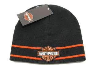 Harley Davidson Motorcycle Knit Skull Cap Beanie Hat Toboggan