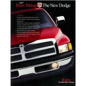 1997 DODGE RAM PICKUP TRUCK Sales Brochure Literature