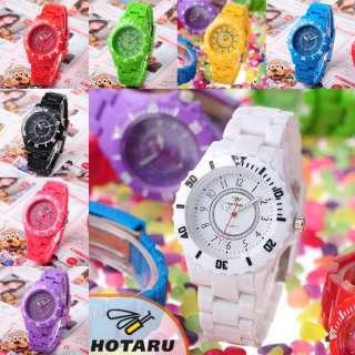 DIY Cool Plastic Jelly Candy Quartz Wrist Watch Man & Lady Fashion
