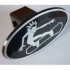 Winter Sports Trailer Hitch Cover Receiver Plug for Cars, Trucks, SUVs