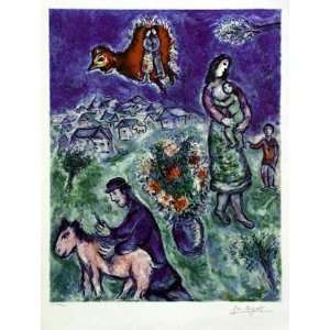 Marc Chagall   Sur la Route du Village Lithograph edition