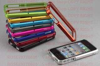 Aluminium Bumper Metal Case Cover for Genuine Apple iPhone 4 4S