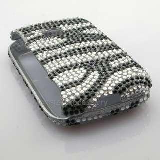 Zebra Bling Hard Case Cover For Samsung Doubletime I857 AT&T