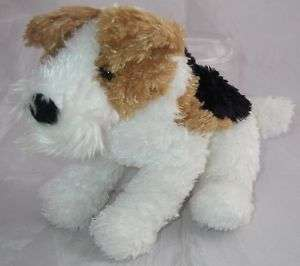 Douglas Cuddle Plush FOX TERRIER Brown/Black/White Dog