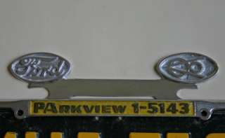 FORD V8 NEW License Plate Frame Tag Topper Rat Hot Rod