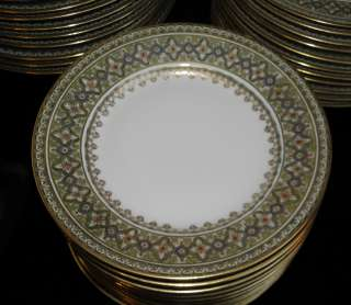 Antique Bernardaud Limoges Porcelain Bread Plate Set of 10 NR