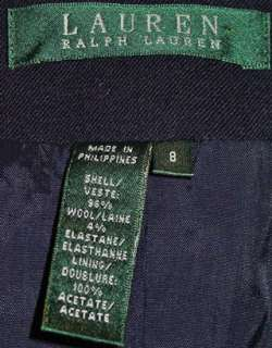 RALPH LAUREN LADIES NAVY WOOL BLAZER / JACKET SZ 12 NWT