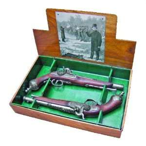 PERCUSSIAN DUELING BOX SET NON FIRING REPLICA GUNS
