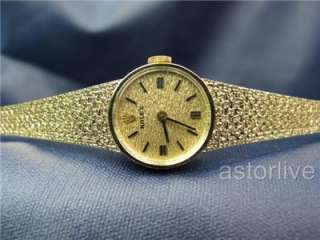 Vintage Ladys Rolex Dress Watch Manual Wind 14k Gold #463
