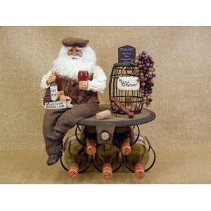 Karen didion Originals Santa Claus 5 wine bottle holder