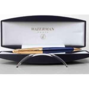 Waterman Edson Saphire Blue   Gold Plated Ballpoint Pen