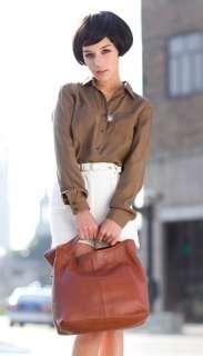 PU Faux Cow Leather Lady Tote Clubbing shoulder Bag Handbag E24