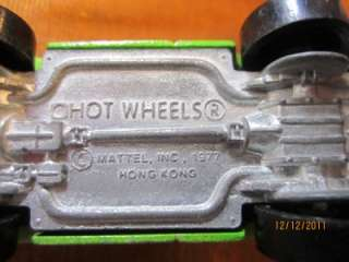 RARE Vintage 1977 Hot Wheels Eagle Pickup Truck Lime Green Mattel Hong