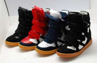 NEW 4color ISABEL MARANT Wedge Sneaker casual shoes boots free