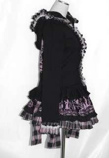 Kera Shop Dolly Gothic Punk Lolita Lace Hoodie Jacket+ Bow Skirt 2pcs