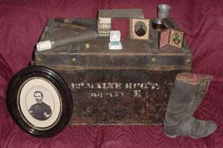 Trunk & Personal Effects of Civil War Sgt, 12th Maine