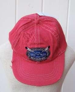 Ralph Lauren PRL polo hat cap small medium skipper red $39 nwt canoe