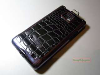 CROCODILE Pattern Flip Leather Plating Hard Case Cover Samsung Galaxy
