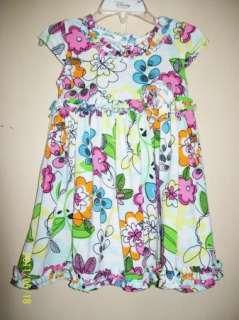 Marmellata Toddler Girls Floral Spring Summer Dress 3T