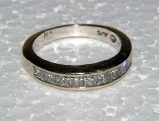 Ladies 18K White Gold 1ct Diamond Ring 4gms Sz 5.75 Scrap or Wear I/J