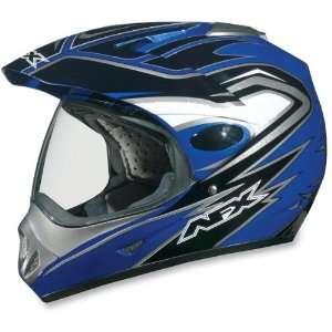 AFX FX 37 DUAL SPORT MOTORCYCLE HELMET BLUE MULTI MD