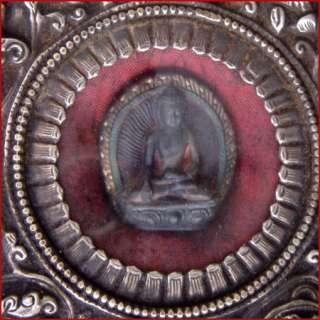 LARGE ROUND 8 AUSPICIOUS SYMBOLS BUDDHA PRAY GAU TIBET