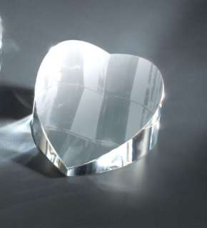 Personalized Crystal Heart Paperweight/ ENGRAVED FREE
