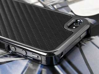 Fiber Chrome Hard Case Cover For iPhone 4 and Screen Film