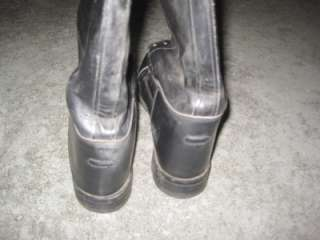 VINTAGE 9.5 WOMENS ENGINEER POLICE MOTORCYCLE EQUESTRIAN LEATHER BOOTS