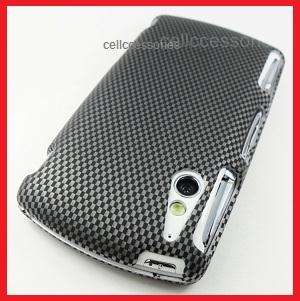 SONY ERICSSON XPERIA PLAY CARBON FIBER LOOK COVER CASE