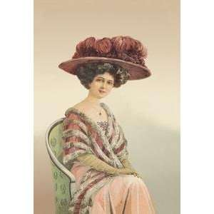 Vintage Art Lady Posing for a Portrait   11794 x: Home