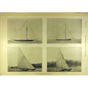 1895 Yacht Britannia Niagara Viva Norman Sailing Print
