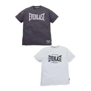 Pack Mens Everlast Grey & White Crew Neck Cotton T Shirt Sport