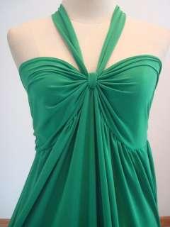 Summer Green Halter Prom Long Maxi Dress Sz M L XL 8 10 14