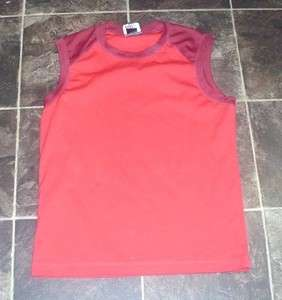 Womens Size Small Red Exercise Workout Sleeveless Shirt