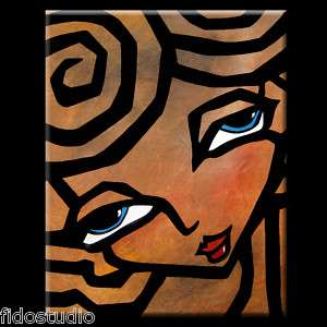 ORIGINAL ABSTRACT PAINTING MODERN CONTEMPORARY WOMAN HUGE FACE ART by