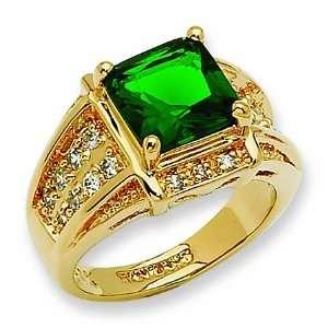 Fashion Crystal Green Jackie Kennedy Ring GEMaffair
