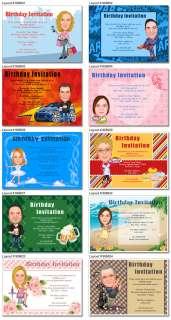 Birthday party invitation card Design Custom invitation