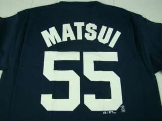 Mens Majestic MLB Hideki Matsui New York Yankees T Shirt Navy any size