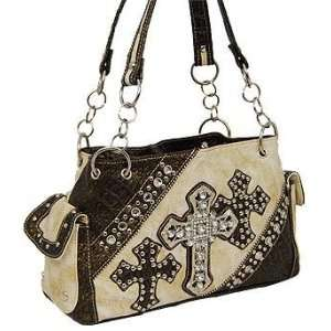 Cream Triple Cross Fashion Purse