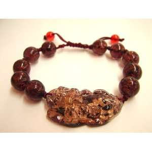 Fashion Jewelry ~ Dark Purple Pi Yao Liuli Bracelet