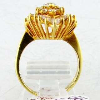 80 CT Diamond Ladies 18k Gold Ring Estate