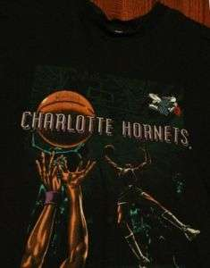 Rare True Vintage Charlotte Hornets NBA T Shirt XL