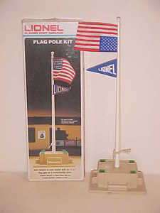 Lionel Flag Pole 6 2320 New In Box With American Flag Sewn Upside